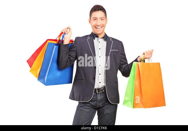 Man Carry Shopping Bags Stock Photos & Man Carry Shopping Bags ...