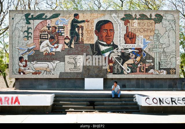 Benito juarez monument stock photos benito juarez for Benito juarez mural