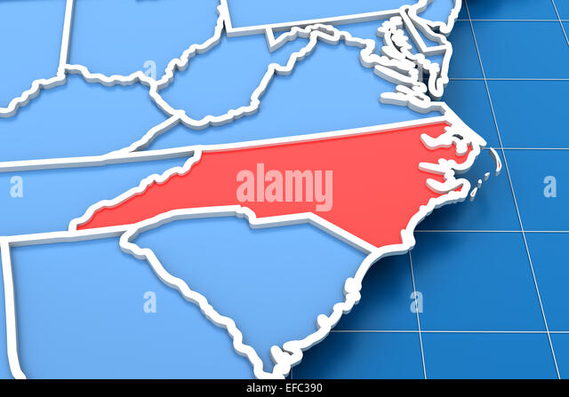 Map Of North Carolina Stock Photos Map Of North Carolina Stock - North carolina usa map