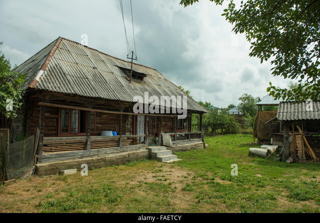 Chalet style interior stock photos chalet style interior stock images alamy - Houses maramures wood ...