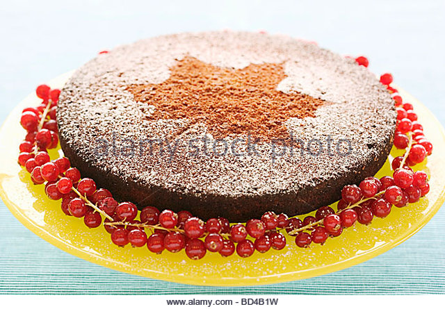Fruit Strawberries Blue Butter Sour Cake
