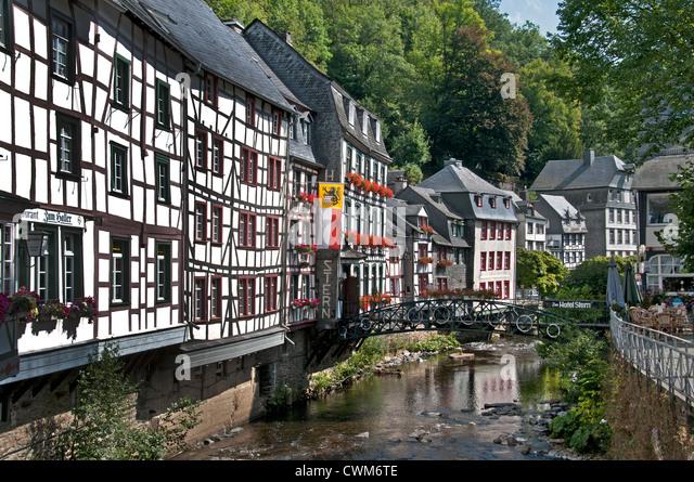 Eifel germany monschau stock photos eifel germany for Hotels in eifel germany