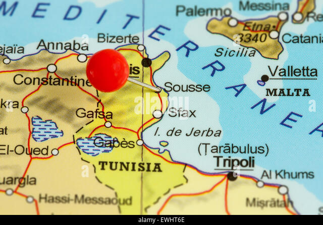 Map Of Tunisia Stock Photos Map Of Tunisia Stock Images Alamy - Map of tunisia
