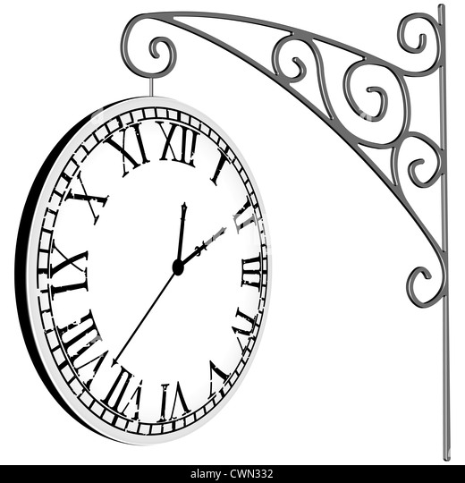 Black Wall Clock Stock Vector Image Of Background