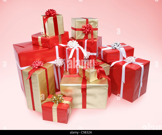 Piled Christmas Presents Stock Photos & Piled Christmas Presents ...
