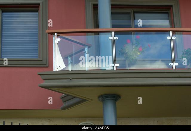 glass panels stock photos glass panels stock images alamy On glass balcony panels