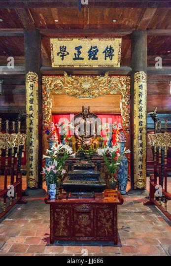Temple of literature Hanoi Vietnam - Stock Image