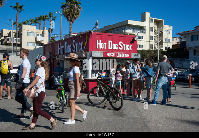 German Hot Dog Stand In California