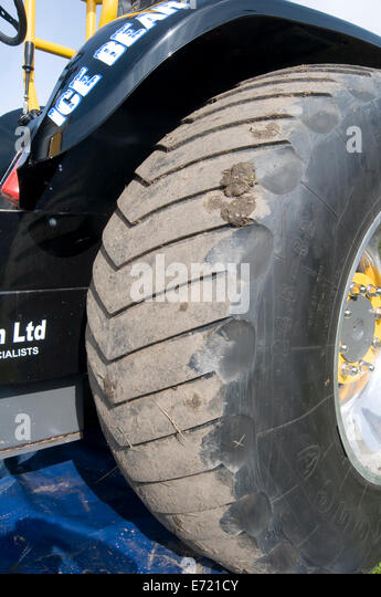 Cut Tractor Pulling Tires : Grippy stock photos images alamy
