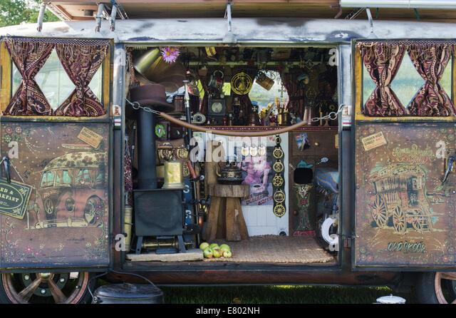 volkswagen van hippie interior. interior of a rusty vw rat split screen volkswagen camper van at show hippie