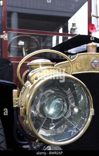 Antique Brass Car Headlights : Headlight assembly stock photos