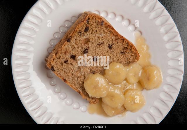 Mocha Chip Sponge Cake With Banana Rum Sauce For Passover By Lauren Chattman At
