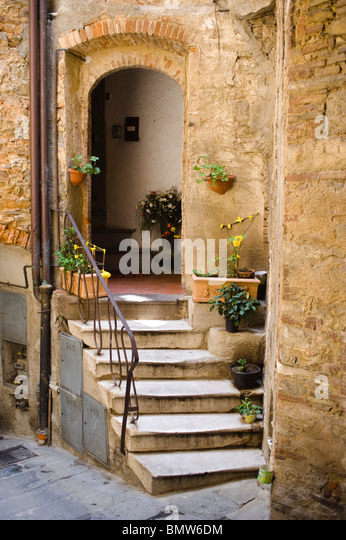 Ancient Doorway in a Medieval Tuscan Hill Town - Stock Image & The Threshold Step Stock Photos \u0026 The Threshold Step Stock Images ...