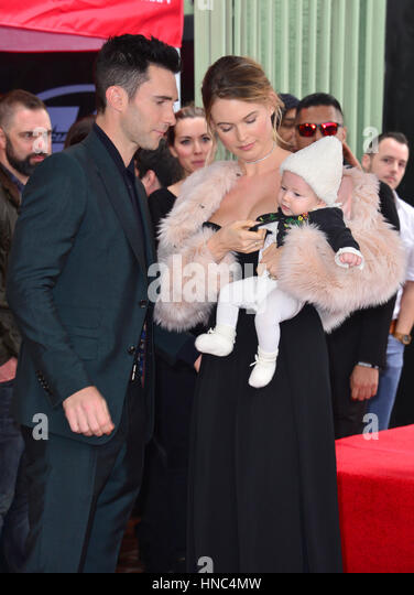 Adam Levine Behati Prinsloo Stock Photos & Adam Levine ...