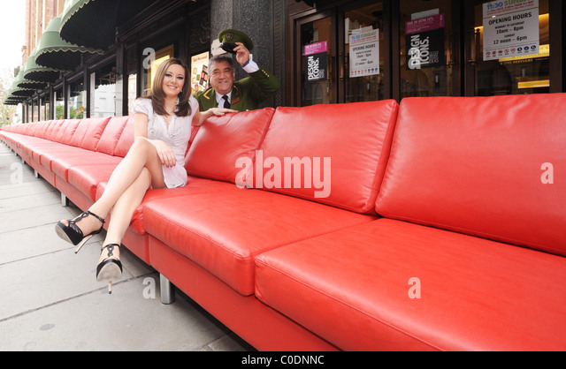 The Worlds Longest Sofa Is Presented At Harrods As Part Of Their Their  Design Icons Season