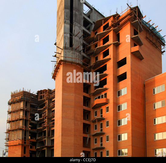 Russian block house stock photos russian block house for Building house with side views