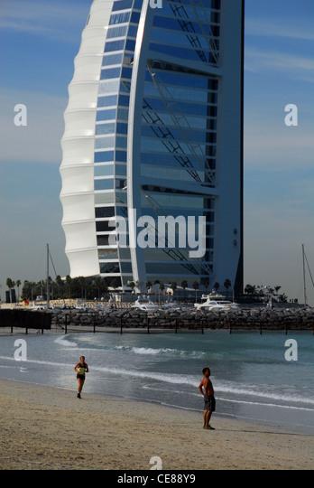 Jumeirah beach road stock photos jumeirah beach road for The burg hotel dubai