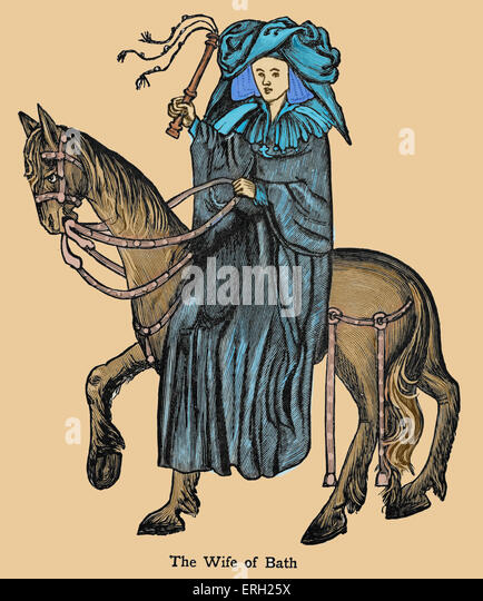 an analysis of the pardoner and the wife of bath in the canterbury tales by geoffrey chaucer Geoffrey chaucer wrote the canterbury tales, a collection of stories in a frame  story,  the wife of bath's tale  the pardoner's tale, fragment vii (group b2.