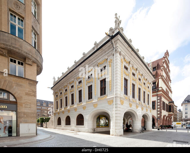 The Old Stock Exchange is located at the end of the Naschmarkt, which is a plaza about 90 meters ( ft.) long and 20 meters (67 ft.) wide, lined with restaurants and shops.