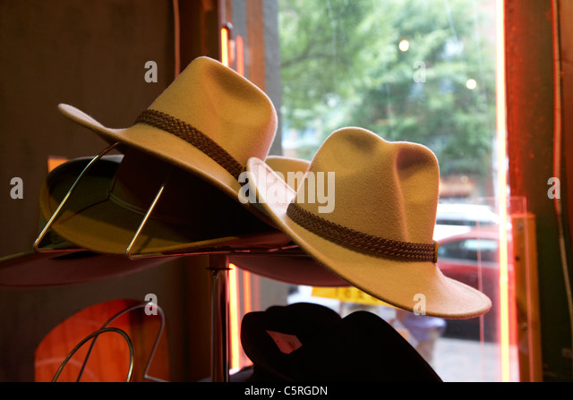 bbfb8ae19cc39 ... low cost cowboy hats for sale in the window of a shop in nashville  tennessee usa