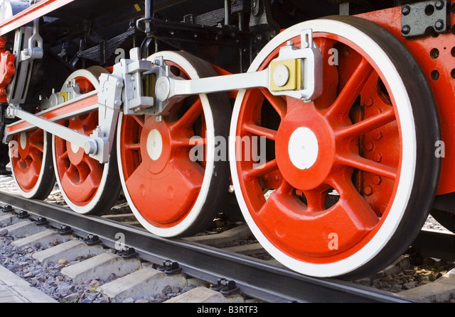 Steam Engine Wheel Driving : Connecting rod stock photos images