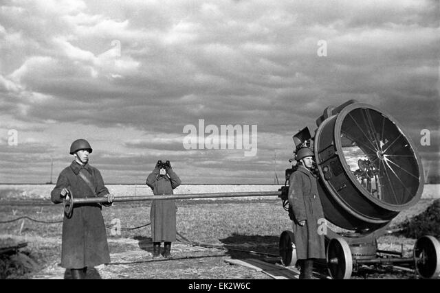 Post searchlight second stock photos post searchlight second stock moscow region ussr soviet soldiers guarding the sky with searchlights stock image aloadofball Choice Image