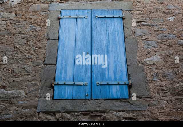 French window and wall stock photos french window and for Blue piscine colmar
