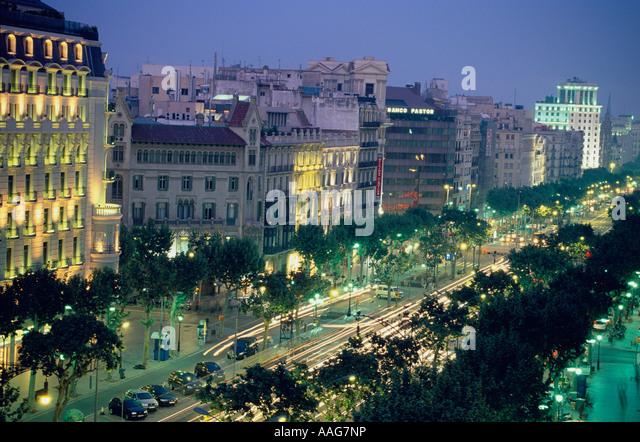 passeig de gracia barcelona catalonia spain stock image