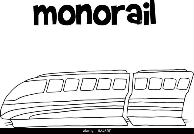 vector illustration of monorail hand draw stock image