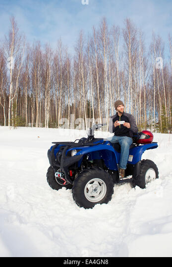 Alaska Winter Bike Stock Photos & Alaska Winter Bike Stock ...