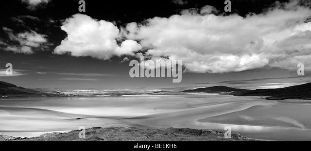 Lifeguard Chair Floor Lamp Luskentyre beach, Isle of Harris, Outer Hebrides, Scotland, Panoramic ...