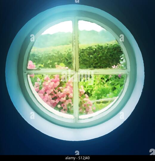 Painterly effect stock photos painterly effect stock for 12 round window