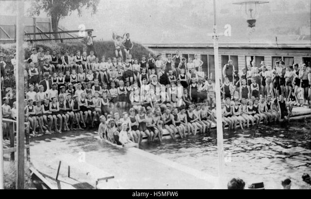 Swimming Pool Children Black And White Stock Photos Images Alamy