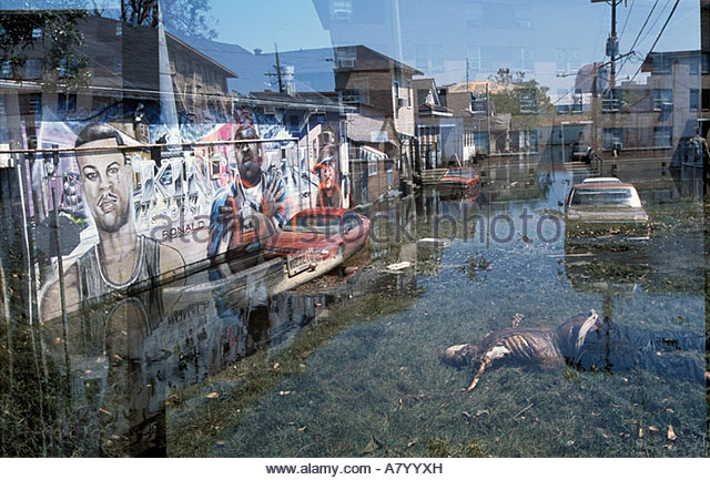 Hurricane Katrina New Orleans Flood Water Stock Photos ...