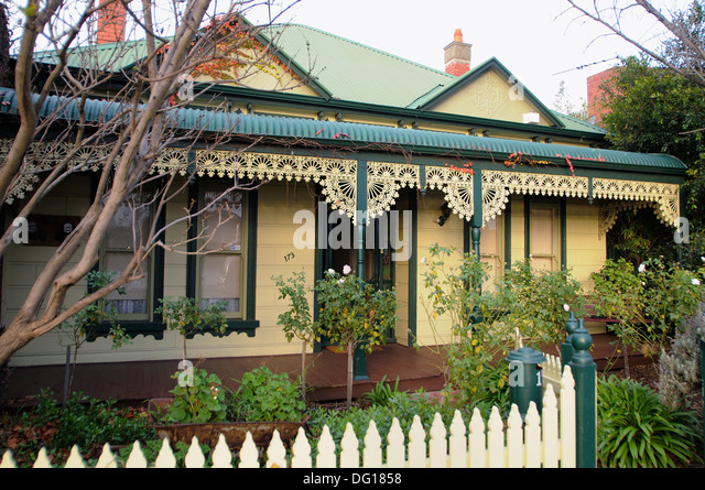 Victorian style cottage stock photos victorian style for Cottage style homes melbourne