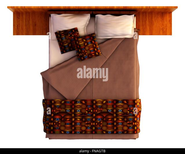 Bed Top View Isolated On Stock Photos Amp Bed Top View
