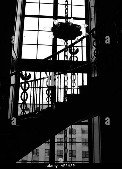 Interior Architecture Black And White Stock Photos