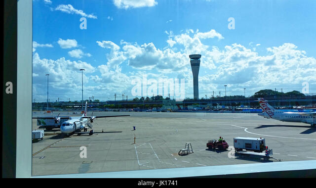 International travel, airports, arrivals and departures, planes, air travel, tarmac - Stock Image