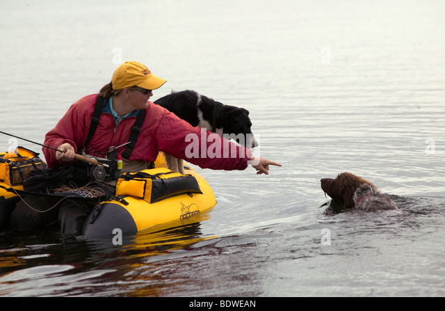 Float tube stock photos float tube stock images alamy for Fly fishing float tube