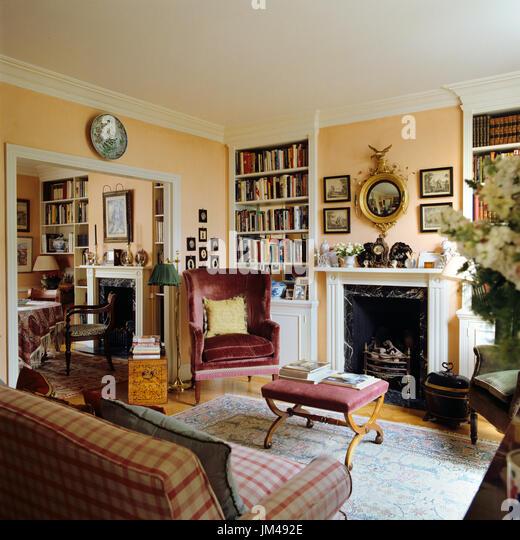 Cluttered living room