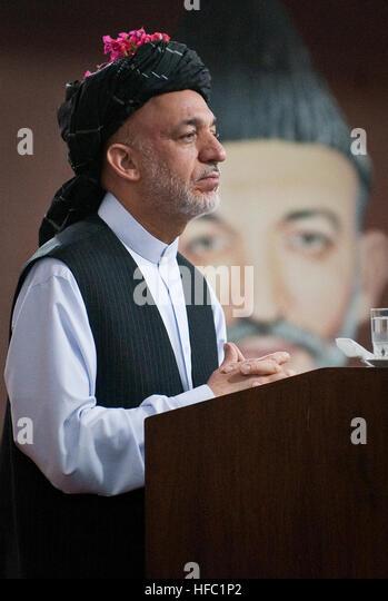 kandahar afghanistan june 14 2010 afghan president hamid karzai attends a