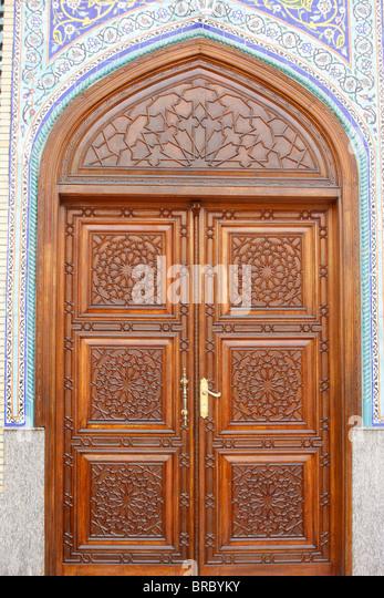 Ali Bin Abi Taleb Mosque door Dubai UAE - Stock Image & Islamic Wooden Door Mosque Stock Photos u0026 Islamic Wooden Door ... pezcame.com