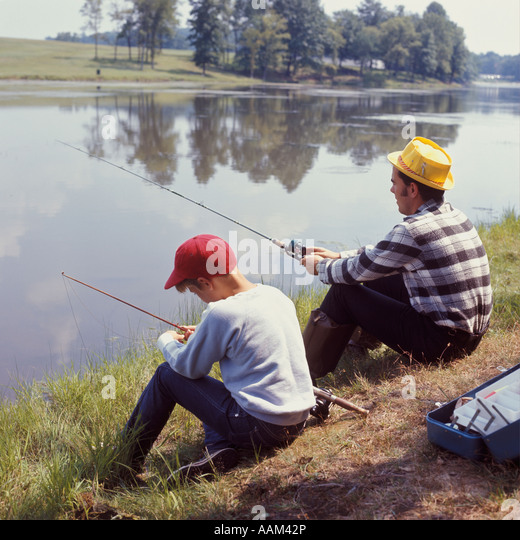 Man photograph family stock photos man photograph family for Banks lake fishing