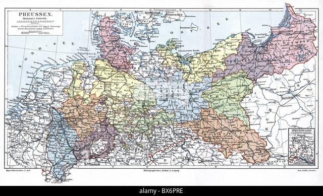 Brandenburg Province Map Stock Photos Brandenburg Province Map