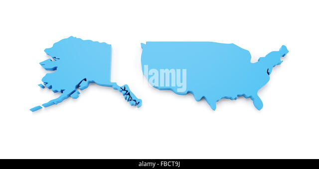 Map Of Alaska Stock Photos  Map Of Alaska Stock Images  Alamy