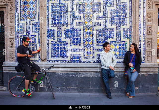 House of tiles mexico city stock photos house of tiles for Los azulejos