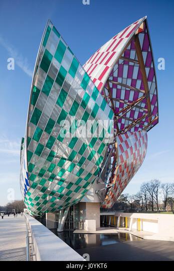 Louis Vuitton Foundation building, Bois de Boulogne, Paris, France,  designed by Frank