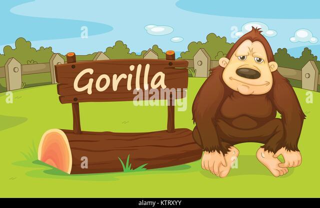 Illustrated Ape Stock Photos & Illustrated Ape Stock
