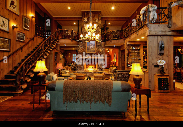 Marvelous Hunting Lodge Interior Stock Photos Hunting Lodge Interior Stock Largest Home Design Picture Inspirations Pitcheantrous