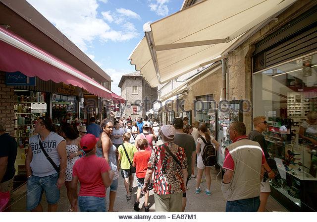 San Marino Architecture Street Stock Photos & San Marino ...